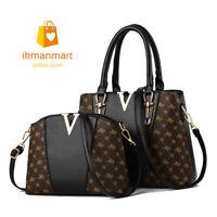 2 Pcs Luxury Handbags Women Designer Crossbody Bags Leather  Shoulder Bag