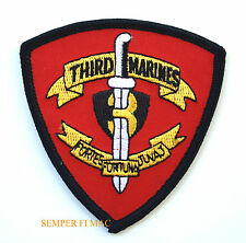US MARINES 3RD MARINES HAT PATCH 3RD MAR DIV MCB HAWAII BATTALION 3RD MAR DIV