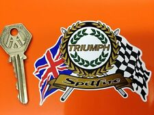 TRIUMPH SPITFIRE Garland Flags & Scroll classic sports car sticker