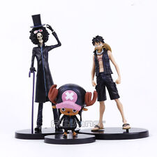 ONE PIECE - SET 3 FIGURAS / LUFFY & TONY & BROOK / 3 FIGURES SET 9-22cm