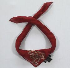 Nuovo Guess Sciarpa di Stoffa Fazzoletto da collo 100% Seta 50cm x (35) #1234