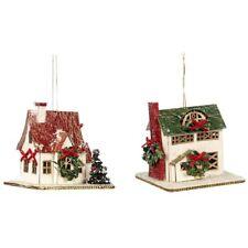Weihnachtshaus 2er Set 7,5x7x7,5cm Katherine's Collection Weihnachtsschmuck