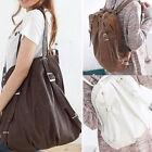 Lady Women Korea Style PU Leather Handbag Tote Messenger Shoulder Bag Backpack