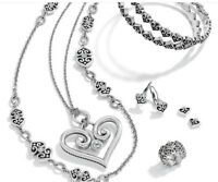 Brighton Earrings Bracelet Necklace  Silver Fast Ship
