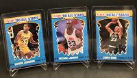 1990-91 Fleer All-Stars #5 Michael Jordan, Magic Johnson, Larry Bird. Legends