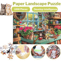 Jumbo 1000 Piece Jigsaw Puzzle Cute Cats Adult Kids Educational Puzzle Gift