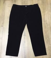 New Ladies Burgundy Velvet Christmas Party Office Trousers Pants Plus Size UK 30