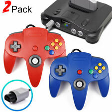 2x  Remote Wired N64 Gaming Controller Joystick Gampad for N64 Game Consoles USA