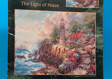 ~Thomas Kinkade~Cross Stitch Pattern Leaflet~Light of Peace~Lighthouse~~