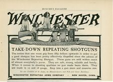 1904 Winchester Repeating Arms Co. Ad Shotgun Puppies Hunting Dogs Gun