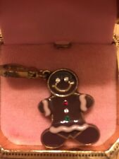 Juicy Couture Charm Christmas Gingerbread Man Enameled Clip On RARE Retired