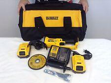 """New Dewalt DCG412P2 20V 20 Volt  4-1/2"""" Cordless Cut Off Tool Angle Grinder kit"""