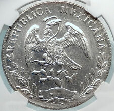 1891 CN AM MEXICO BIG Silver 8 Reales Antique Mexican Coin Eagle NGC MS i81888