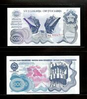 Jugoslawien 500000 Dinara 1989 P-98 Banknote Serie AA  UNC