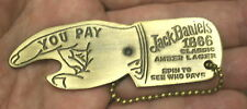 BRASS <> Jack Daniels Bottle Opener <> FINGER OF FATE >Spinner cap lifter