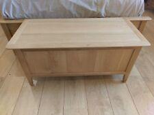 Bergen Light Oak Blanket Box / Bedroom Storage Chest / Scandinavian Style Retro