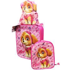 Paw PATROL SKYE 3 pezzi set di bagagli rosa TROLLEY VALIGIA ZAINO coulisse BA