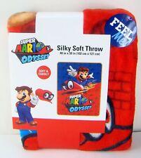 "Super Mario Odyssey Nintendo Silky Soft Throw Blanket 40"" x 50'' Nwt"