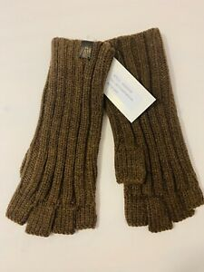 NWT AUTHENTIC ALLSAINTS RIBBED CUT OFF FINGER WOOL BLEND MEN GLOVES MANY COLORS