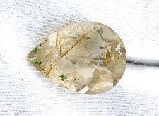 15.90 Carat 21.6mm x 16mm Pear Golden Rutilated Quartz Gemstone Gem Stone ES6326