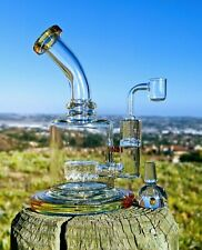 "8.5"" Heavy Chunky Honey Rig Combo Quality Tobacco Smoking Water Pipe Bong"
