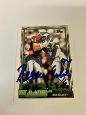 Reggie White 1992 Topps Football Autographed Card Hand Signed Auto HOF Eagles