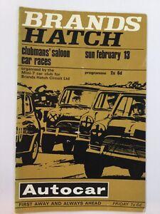 Brands Hatch Clubmans' Saloon car races 1966 Programme
