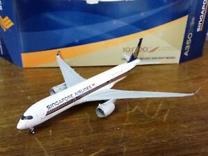 1/400 JC Wings SINGAPORE AIRLINES A350-900 9V-SMF 10,000TH AIRBUS AIRCRAFT