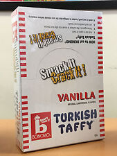 Bonomo Turkish Taffy Vanilla 24ct Case Full-Size Candy Bars FREE SHIPPING