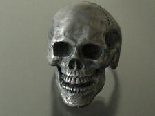FLASH SALE PRICE! skull ring sterling silver mens ring biker masonic jewelry 925