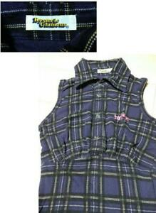 Hysteric Glamour Blue Long/S Shirt Check Pattern Free Size 122404