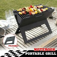 Portable Charcoal BBQ Camping Grill Barbeque Folding Free Standing Cooking NEW