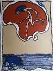 """Pierre Alechinsky, Lithograph,""""Flying Obj."""",Hand Signed, Numb., COA, Arches, '78"""
