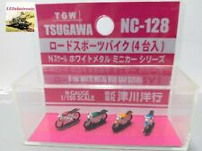 TGW 1/150 N Scale NC-128 Road Sport Motorcycle (4 units), diorama/model railway