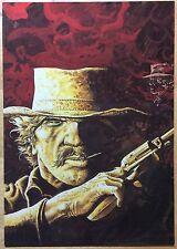 COMANCHE Le ciel est rouge sur Laramie Carte postale Hermann CP n°37 1984 TBE