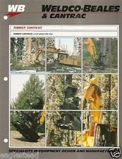 Equipment Brochure - Weldco-Beales Cantrac - Rimmer Sawhead Logging c1989(E2166)
