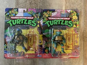 🐢TMNT Classic Basic 2 TMNT Walmart Nickelodeon Exclusive Playmates. Lot Of 2