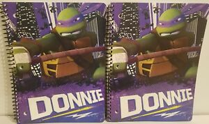 Teenage Mutant Ninja Turtles TMNT Donnie 2 notebooks 1 subject wide ruled spiral