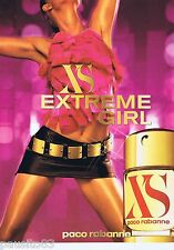 PUBLICITE ADVERTISING 115 2001 Paco Rabanne XS extreme girl