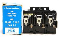 Gould I-T-E P4320 Pushmatic Circuit Breaker 20A 240V 3P 3 Phase Siemens NEW