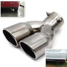 Perfect Chrome Stainless Steel Car Rear Dual Exhaust Pipe Tail Muffler Tip New