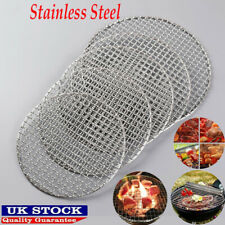 More details for round barbecue grill mesh wire net stainless steel rack grid grate picnic tool.