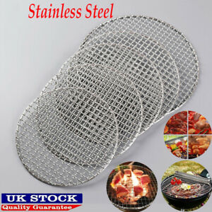 Round Barbecue Grill Mesh Wire Net Stainless Steel Rack Grid Grate Picnic Tool.