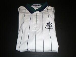 Vintage Boast Sea Island Cloister Cotton Blend Golf Polo Pin Stripe Shirt Medium