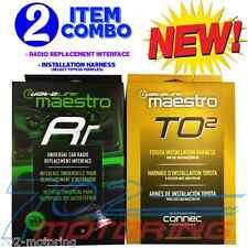 NEW iDATALINK MAESTRO ADS-MRR + ADS-HRN-RR-T02 ADAPTER TOYOTA  2012 - 2016