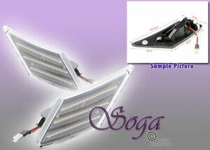 FOR SUBARU BRZ SCION FR-S FRS AMBER LED FRONT BUMPER CLEAR SIDE MARKER LIGHTS US
