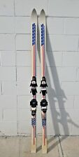 Vntge K2 Unlimited 5500 Skis Red White Blue USA Look 89 rx Bindings Untested