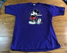 Vintage Mickey Mouse Disney Florida Purple T Shirt Adult L Large