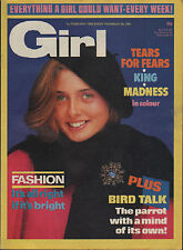 Girl  Magazine 1 February 1986      Paul King      Madness      Tears For Fears