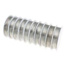 9m KUPFERDRAHT 0,5mm Silber Lackdraht Basteldraht SCHMUCKDRAHT DRAHT  C258